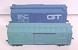 Train Cars HO Scale GT & Santa Fe (2) Box Cars (Image1)