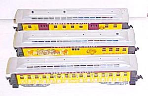 Train Cars HO Scale Barnum & Bailey (3) Cars (Image1)