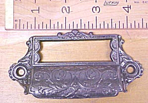 Antique Drawer Pull Ornate Hardware Iron Filing Cabinet