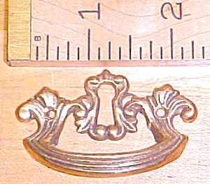 Antique Drawer Pulls Ornate Hardware Brass Key Hole (Image1)
