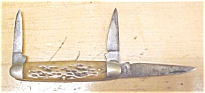 Pal Cutlery Stockman Pocket Knife 3 Blade Stag (Image1)