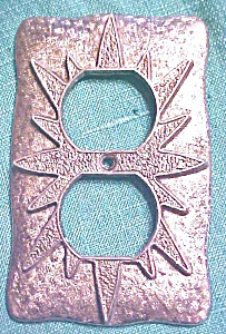 Starburst Switchplate Ornate Pattern Two Plug 1960's (Image1)