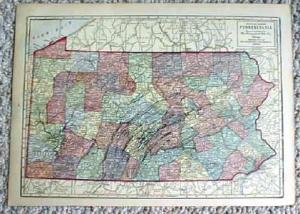 1911 Map Of Pennsylvania & New Jersey
