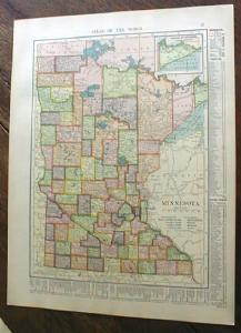 1904 Map Minnesota And Iowa (Image1)