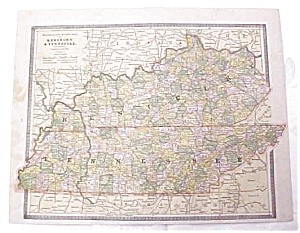 Antique Map Kentucky Maryland Delaware WV TN Crams 1883 (Image1)