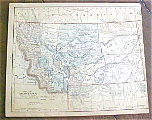 Antique Map Montana Utah 1901
