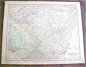 Antique Map Quebec Nova Scotia 1901
