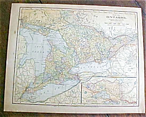 Antique Map Ontario Mexico 1901