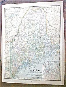 Antique Map Maine & South America 1901 (Image1)