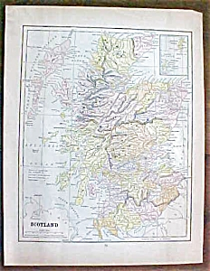 Antique Map Scotland Sweden Norway 1901 (Image1)