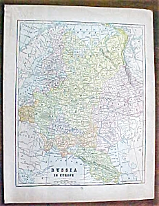 Antique Map Russia Asia 1901