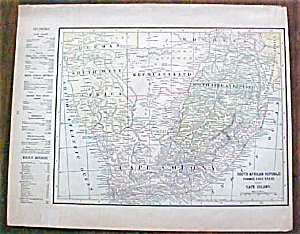 Antique Map Australia South Africa 1901 (Image1)