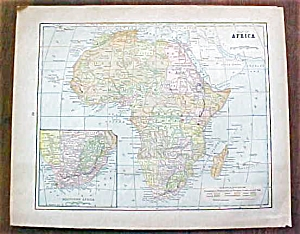 Antique Map Africa China Malaysia Japan 1901