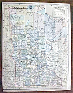 Antique Map Minnesota Kentucky Tennessee 1901 (Image1)