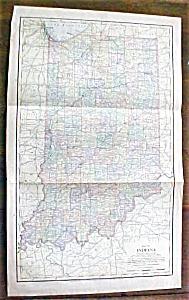 Antique Map Indiana 1901 Large Fold Out (Image1)