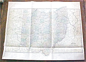 Antique Map Ohio 1901 Large Foldout (Image1)