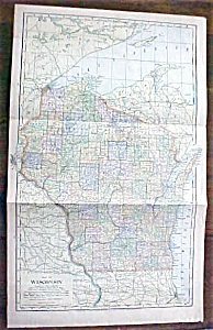 Antique Map Wisconsin 1901 Large Foldout (Image1)