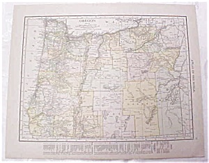 Antique Map Oregon Washington 1917 Rand McNally (Image1)