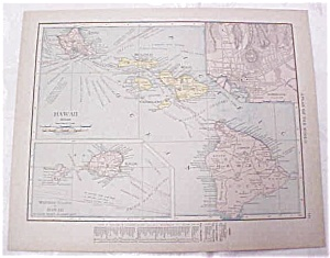 Antique Maps Hawaii Philippine Islands 1917 Rand (Image1)