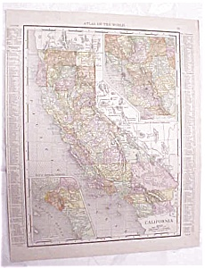 Antique Map California San Francisco Streets 1917 Rand (Image1)