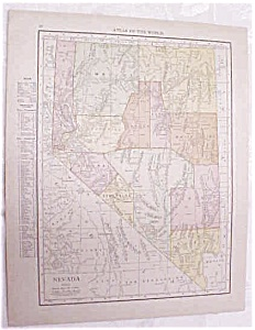 Antique Map Nevada Arizona 1917 Rand McNally (Image1)