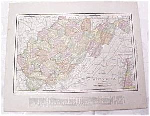 Antique Map West Virginia North Carolina 1917 Rand (Image1)