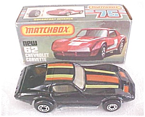 Matchbox No. 62 Chevrolet Corvette MIB Black (Image1)