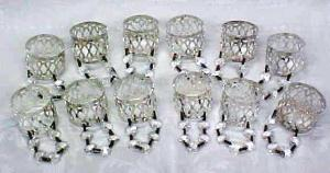 Silver Plated Napkin Rings Prisms 12 PC (Image1)