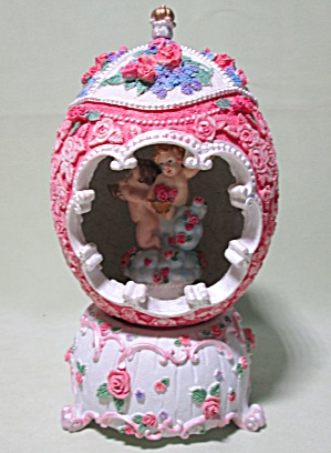 Music Box Ornate Egg Roses 3D Design (Image1)
