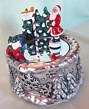 Twirling Santa Music Box Jingle Bells (Image1)