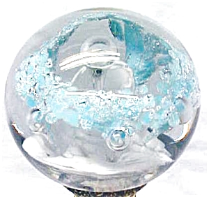 Royal Glass Paperweight Sky Blue White Silver (Image1)