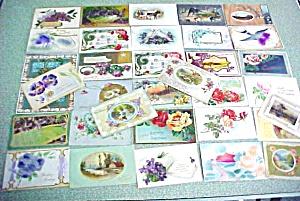 Vintage Postcard Lot Birthdays Greetings 1900's 78PC (Image1)
