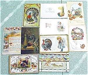 Postcard Lot Thanksgiving Clapsaddle Griggs Winsch Tuck (Image1)