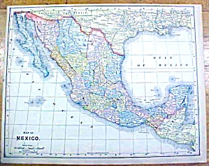 Antique Map Mexico Ontario 1902 Crowell