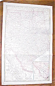 Antique Map Texas 1906 Large Fold Out Size (Image1)
