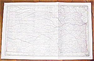 Antique Map Kansas 1906 Large Fold Out Size (Image1)
