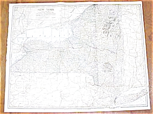 Antique Map New York 1906 Large Fold Out (Image1)