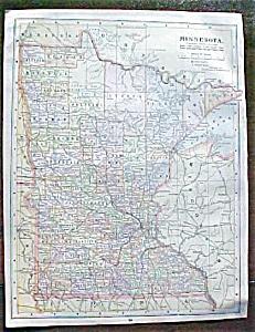 Antique Map Minnesota Kentucky Tennessee 1906 (Image1)