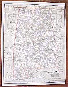 Antique Map Alabama Florida 1906 (Image1)