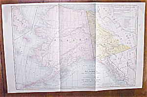 Antique Map Alaska 1906 Large Fold Out (Image1)