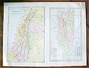 Antique Map Puerto Rico British Columbia 1906 (Image1)