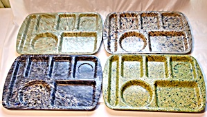 Prolon Ware Cafeteria Trays (4) Speckled