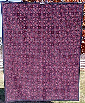Quilt Wholecloth Twin Size 60 x 75 inch Forget Me Not (Image1)