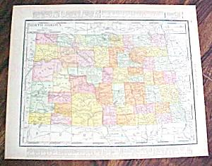 Antique Map North Dakota South Dakota 1912 (Image1)