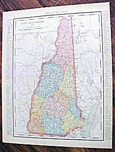 Antique Map New Hampshire Maine 1912 (Image1)