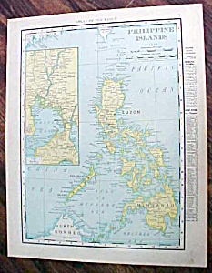 Antique Map Philippine Islands 1912 (Image1)