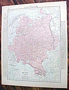 Antique Map Russia Balkan States 1912 (Image1)