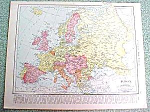 Antique Map Europe British Isles 1916 Rand McNally (Image1)
