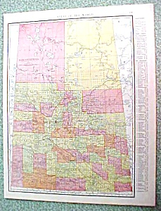 Antique Map Saskatchewan Alberta 1916 Rand McNally (Image1)