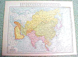 Antique Map Asia Africa 1916 Rand McNally (Image1)
